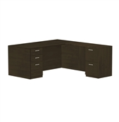 CHERRYMAN AMBER L-DESK, FULL PEDESTALS AM31FN