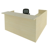 CHERRYMAN AMBER RECEPTION L-DESK, FULL DOUBLE PEDESTALS AM399N