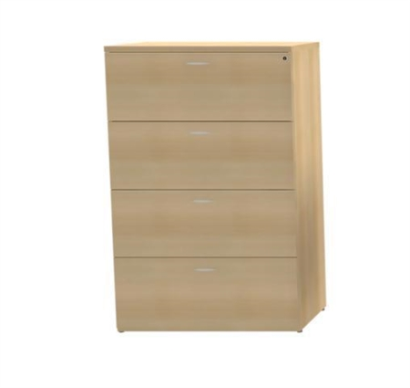 CHERRYMAN AMBER 4 DRAWER LATERAL FILE CABINET AMLF-927