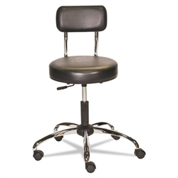 Alera HL Series Height-Adjustable Stool with Back