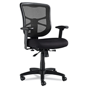 Elusion Series Mesh Mid-Back Swivel/Tilt Chair -Black
