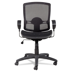 Alera Etros Series Suspension Mesh Mid-Back Synchro Tilt Chair, Mesh Back/Seat