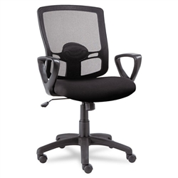 Etros Series Mesh Mid-Back Swivel/Tilt Chair, Black ALEET42ME10B by Alera