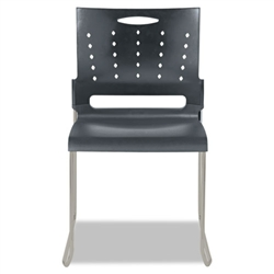 Alera Continental Series Perforated Back Stacking Chairs