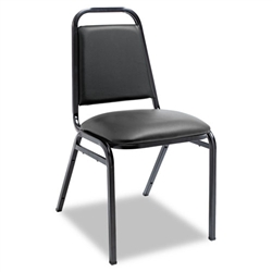 Alera Upholstered Stacking Chairs with Square Back