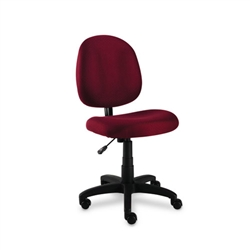 Swivel Task Chair, Acrylic, Burgundy ALEVT48FA30B by Alera