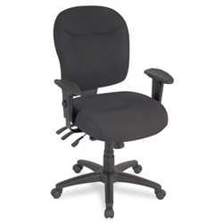 Alera Wrigley Series Mid-Back Multifunction Chair with Adjustable Arms