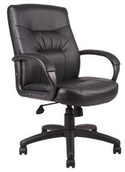 Boss Executive Mid Back Leather Chair - B7506