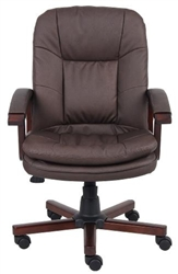 Boss Brown Leather Plus Office Chair