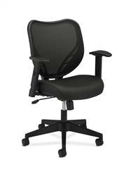 Basyx HVL551 HON Mesh Mid-Back Task Chair