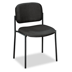 Basyx VL606 Stacking Armless Guest Chair, Black