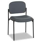 Basyx VL606 Stacking Armless Guest Chair, Charcoal Gray