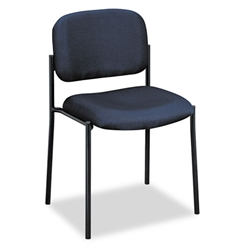 Basyx VL606 Stacking Armless Guest Chair, Navy