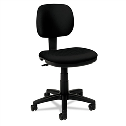 Basyx VL610 Series Swivel Task Chair, Black Fabric/Black Frame