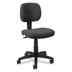 Basyx VL610 Series Swivel Task Chair, Charcoal Fabric/Black Frame