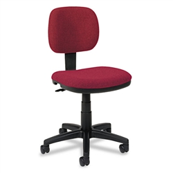 Basyx VL610 Series Swivel Task Chair, Burgundy Fabric/Black Frame