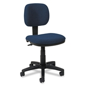 Basyx VL610 Series Swivel Task Chair, Navy Fabric/Black Frame