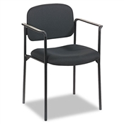 Basyx VL616 Stacking Guest Chair with Arms, Black