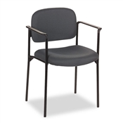 Basyx VL616 Stacking Guest Chair with Arms, Charcoal Gray