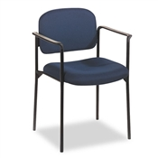 Basyx VL616 Stacking Guest Chair with Arms, Navy