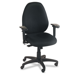 Basyx VL600 Series High-Performance High-Back Task Chair, Black