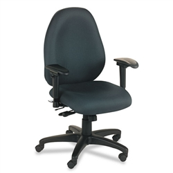 Basyx VL600 Series High-Performance High-Back Task Chair, Charcoal