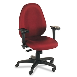 Basyx VL600 Series High-Performance High-Back Task Chair, Burgundy