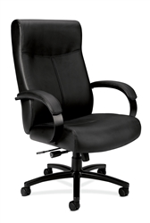 Basyx HVL685 Big & Tall Leather Chair, Black
