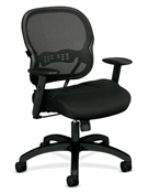 Basyx HVL712 Mesh Mid-Back Chair