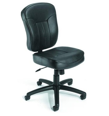 boss b1560 armless leather plus computer chair office furniture outlet. Black Bedroom Furniture Sets. Home Design Ideas