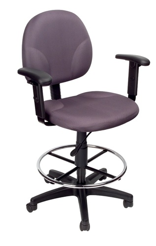 Boss B1691 Fabric Or Leather Plus Drafting Chair Counter