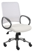 Boss B6406 White Mesh Office Chair