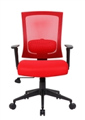 Boss B6706 Red Mesh Office Chair