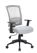 Boss B6706 Gray Mesh Office Chair