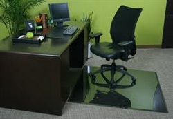"Executive Glass ChairMats Gray 46"" x 46"""