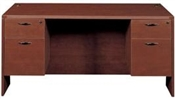 Cherryman Amber Rectangular Desk with Hanging Pedestals