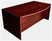 Cherryman Amber Bowfront Desk with Full Pedestals