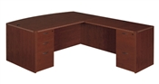 Cherryman Amber Executive L Desk with Bowfront