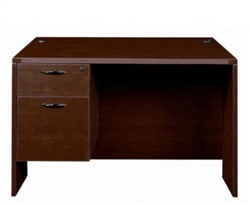 Cherryman Amber Rectangular Desk with Hanging Pedestal