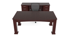 Cherryman Emerald Veneer Table Desk