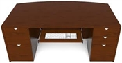 Cherryman Jade Executive Bowfront Desk