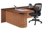 Cherryman Jade Bullet Top Desk with Return