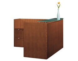 Cherryman Jade Reception Desk with Glass Transaction Counter