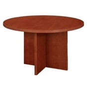Cherryman Amber Round Conference Table w/ X-Base