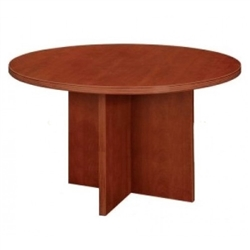 Amber Round Conference Table w/ X-Base