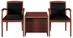 Cherryman Amber Guest Chair Set with End Table