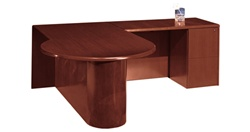 "Ruby Executive ""L"" Desk w/ P Top"
