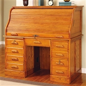 Coaster Palmetto Deluxe Roll Top Oak Computer Desk