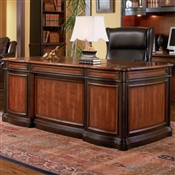 Coaster Pergola Double Pedestal Desk with Felt Lined Drawers