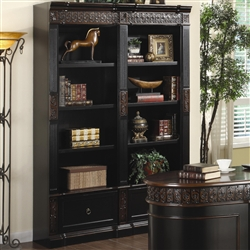 Coaster Nicolas Traditional Carved Combination Bookcase